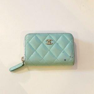 CHANEL Zip Coin Purse Card Holder Wallet mint